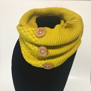 Yellow Mustard Infinity Scarf
